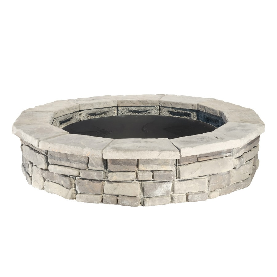 Panama 66-in W x 66-in L Different Subtle Shades of Gray Concrete Fire Pit Kit