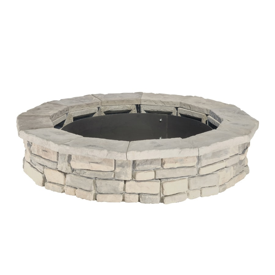Panama 66-in W x 66-in L Grays with Hints of Tan Concrete Fire Pit Kit