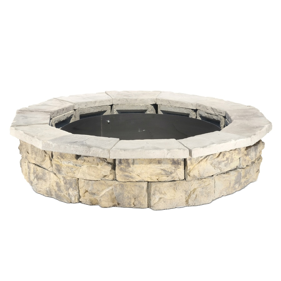 Pantheon 66-in W x 66-in L Grays with Hints of Tan Concrete Fire Pit Kit