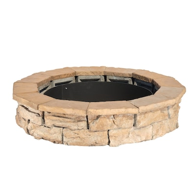 Pantheon 66 In W X 66 In L Browns Tans Concrete Fire Pit