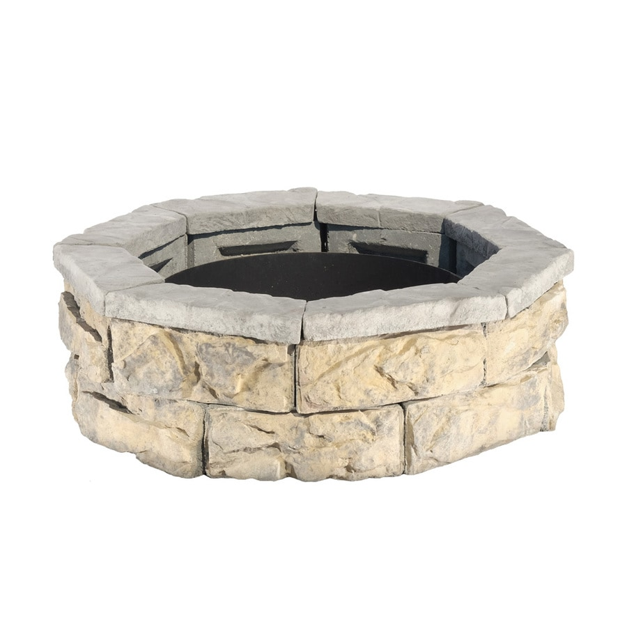 Pantheon 30-in W x 30-in L Grays with hints of tan Concrete Fire Pit Kit