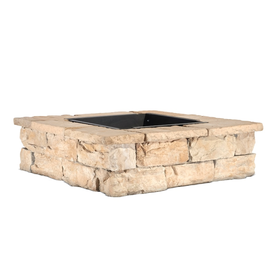 Pantheon 52-in W x 52-in L Browns/Tans Concrete Fire Pit Kit