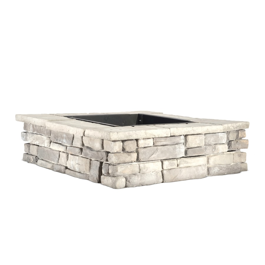 Panama 52-in W x 52-in L Different Subtle Shades of Gray Concrete Fire Pit Kit