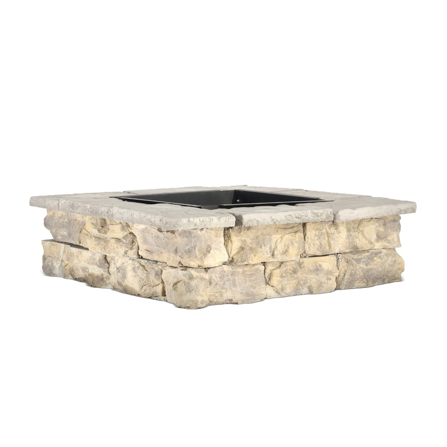 Pantheon 52-in W x 52-in L Grays with Hints of Tan Concrete Fire Pit Kit