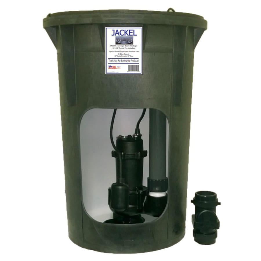 Jackel Pre-Plumbed 1/2 HP Sewage Basin System