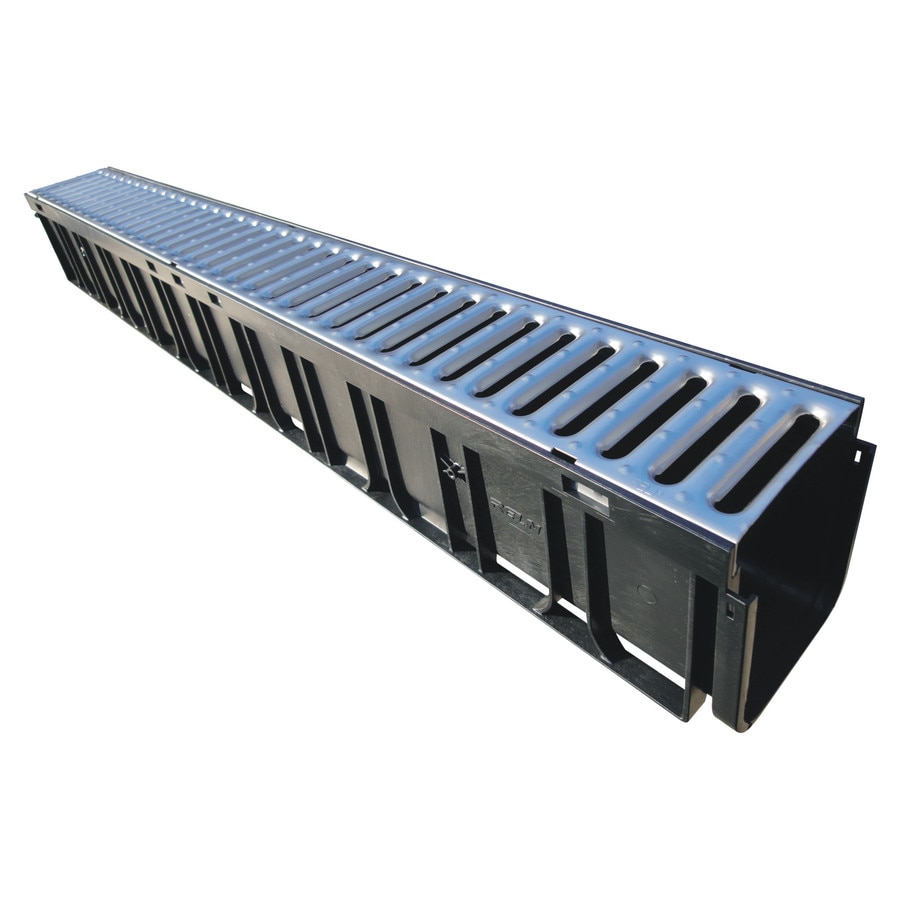 Rain Drain 40-in L x 4.72-in W Rectangle Easy Channel System