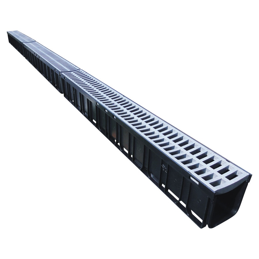 Rain Drain 10-ft L x 4.72-in W Rectangle Channel Grate