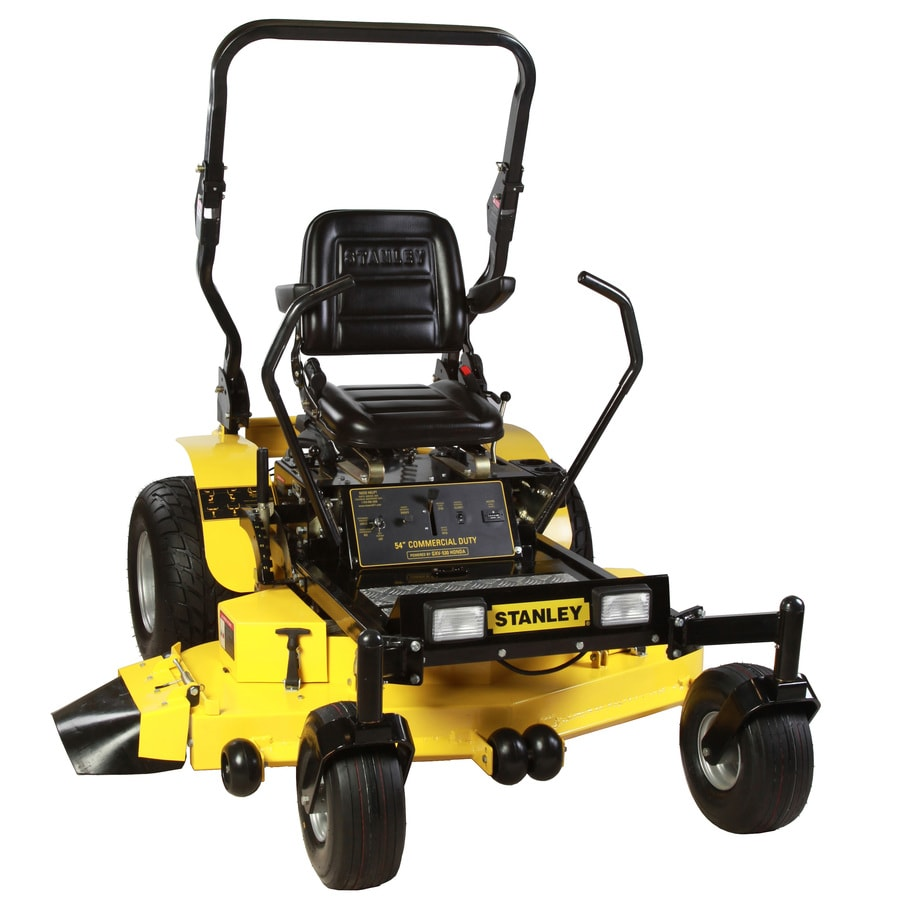 Stanley 24-HP V-Twin Dual Hydrostatic 54-in Zero-Turn Lawn Mower with Kawasaki Engine