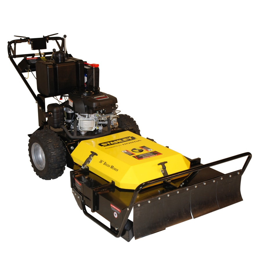 Stanley 530-cc 36-in Key Start Self-Propelled Dual Hydrostatic Front Discharge Gas Push Lawn Mower with Honda Engine