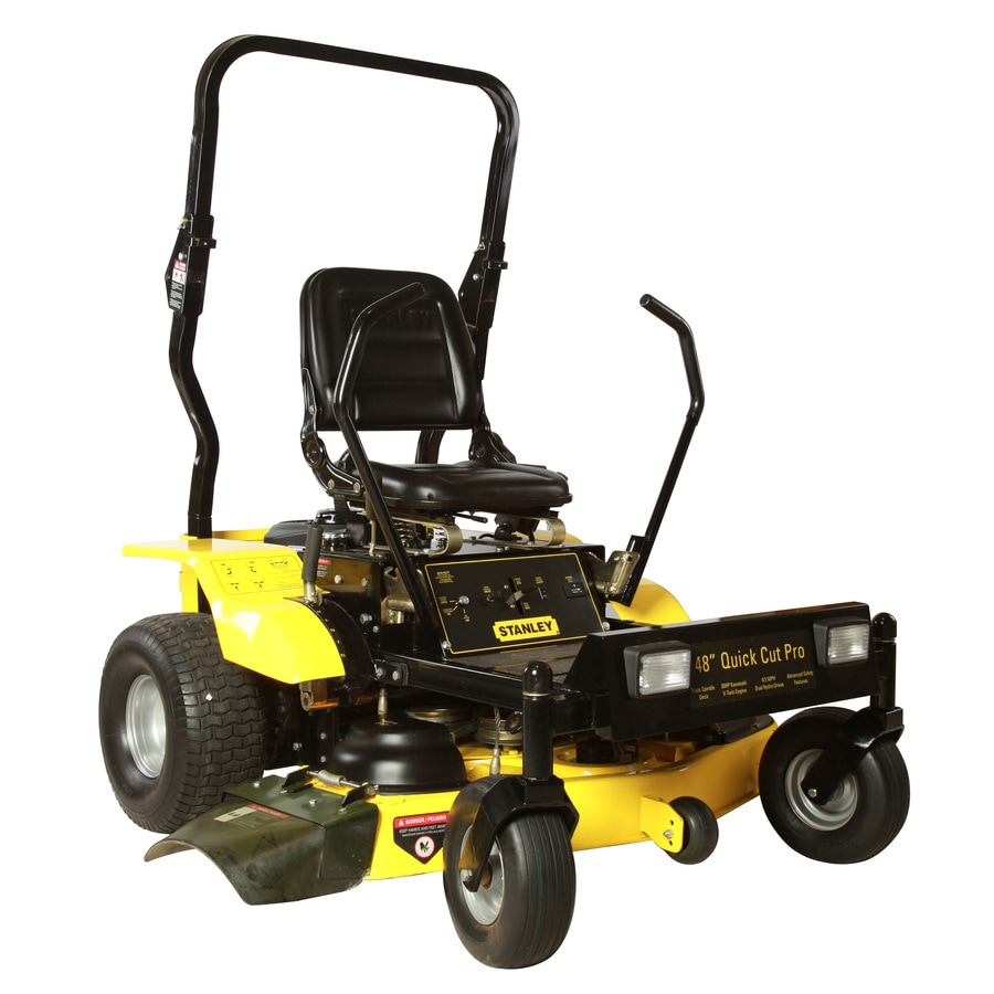 Stanley 20-HP V-Twin Dual Hydrostatic 48-in Zero-Turn Lawn Mower with Kawasaki Engine