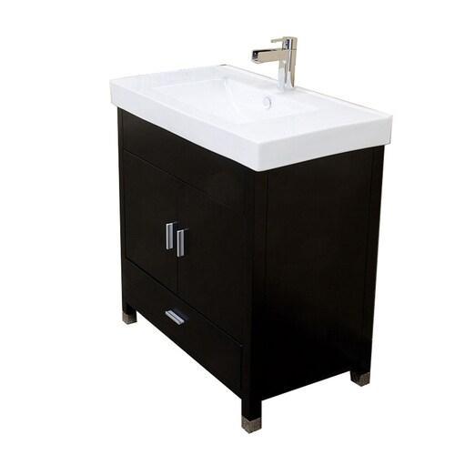 Bellaterra Home 31.5-in Black Single Sink Bathroom Vanity ...
