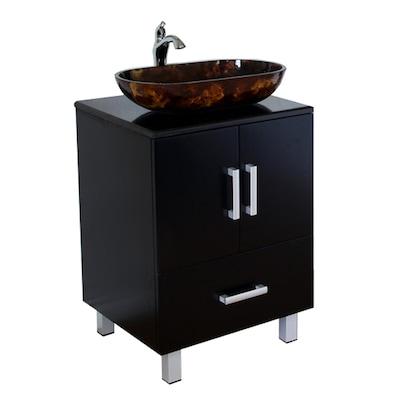 Bathroom Vanities 22 Inches Wide | Bellaterra Home 22 In Black Single Sink Bathroom Vanity With