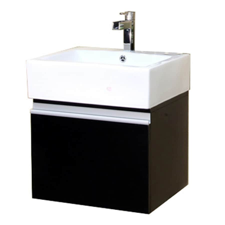 Shop bellaterra home dark espresso integrated single sink for Bath vanities with tops