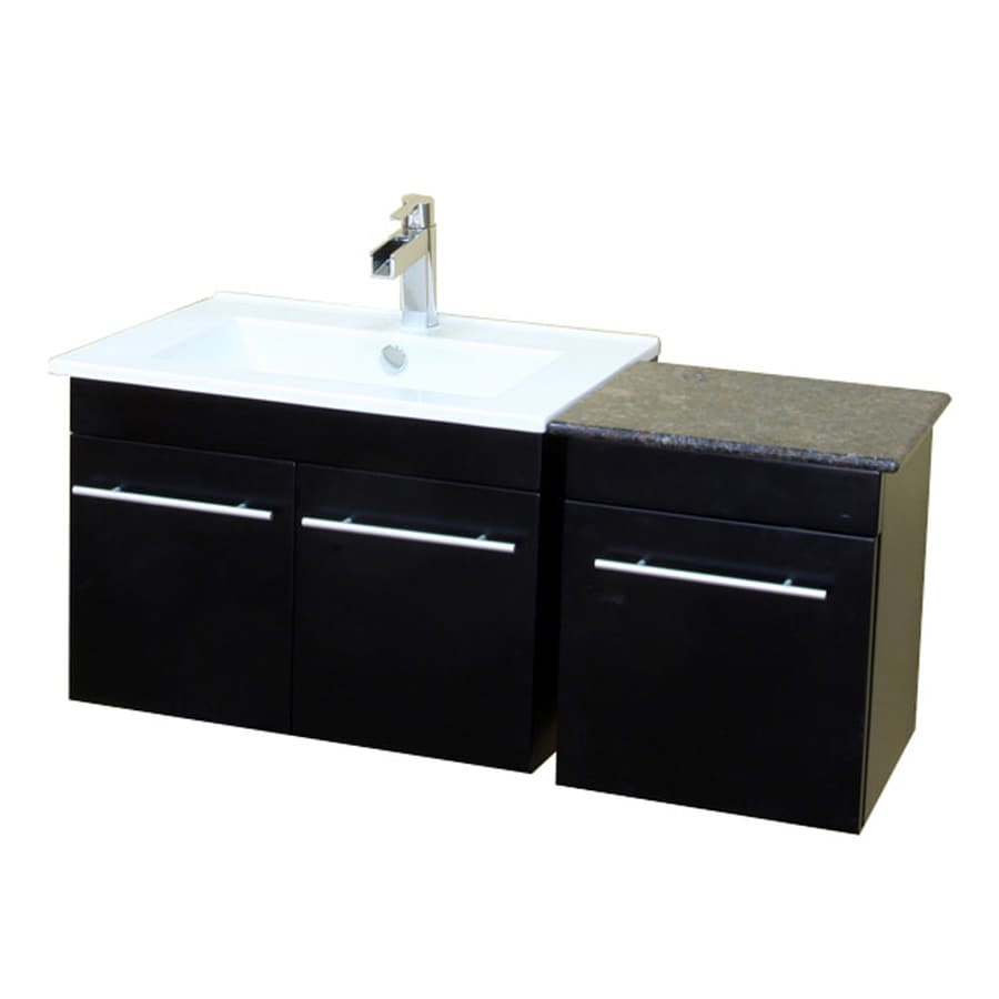 Vanity Tops With Integrated Sink : Shop bellaterra home black integrated single sink bathroom