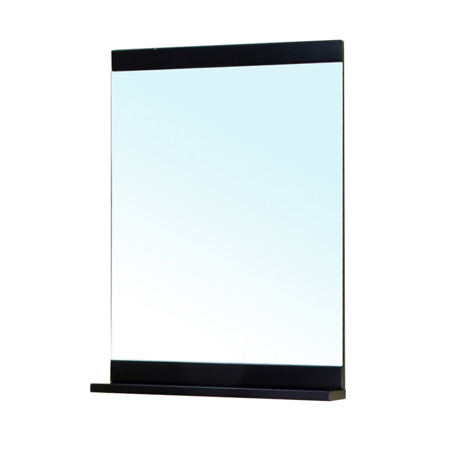 Bellaterra Home 22-in W x 31.5-in H Black Rectangular Bathroom Mirror
