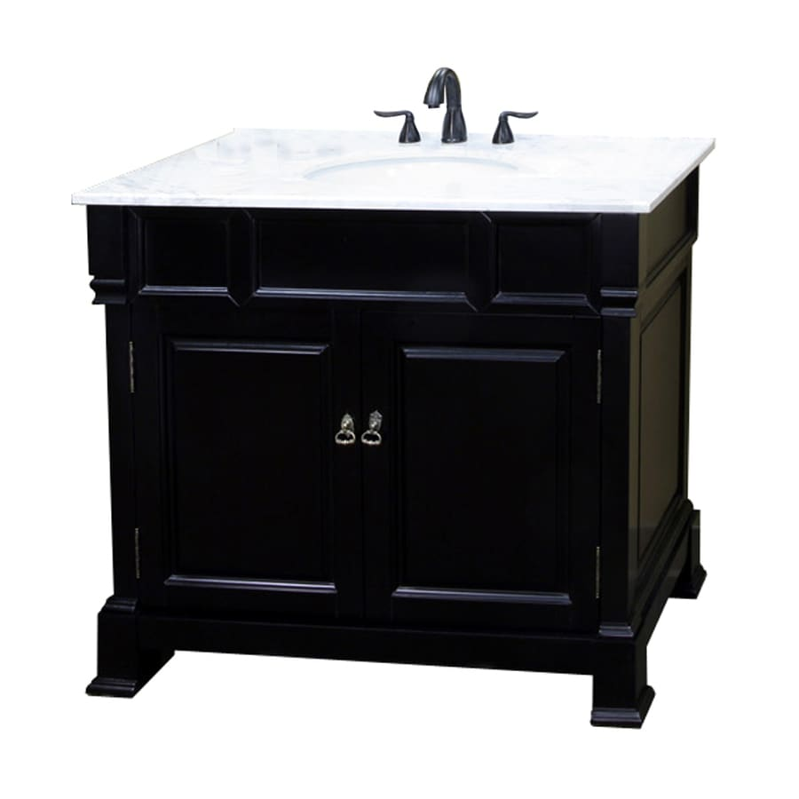 Shop bellaterra home espresso undermount single sink for Bath vanities with tops