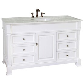 single white vanity with sink. Bellaterra Home White  Rub Edge Undermount Single Sink Bathroom Vanity with Natural Marble Top Shop Vanities at Lowes com