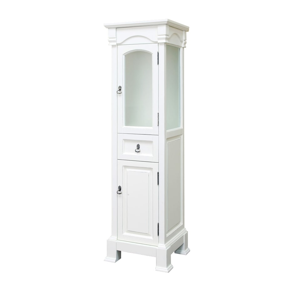 Freestanding Linen Cabinet Shop Bellaterra Home 18 In W X 65 In H X 163 In D White Birch