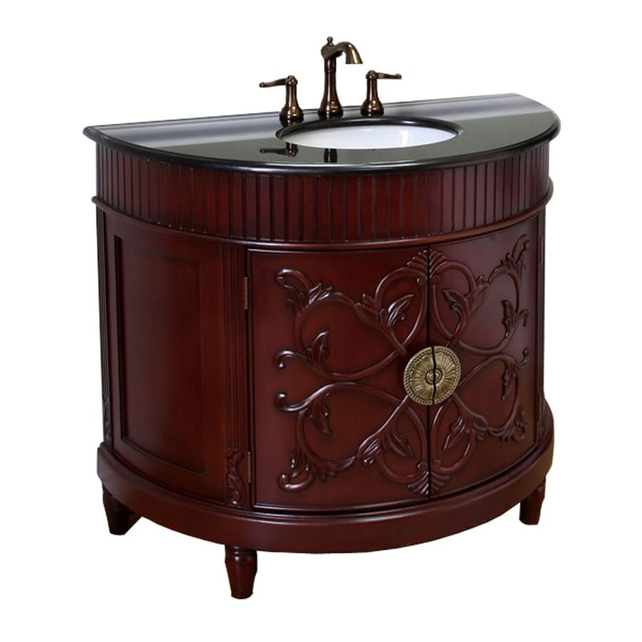 Bellaterra Home Colonial Cherry Undermount Single Sink Bathroom Vanity with Granite Top (Common: 42-in x 22-in; Actual: 42-in x 22-in)