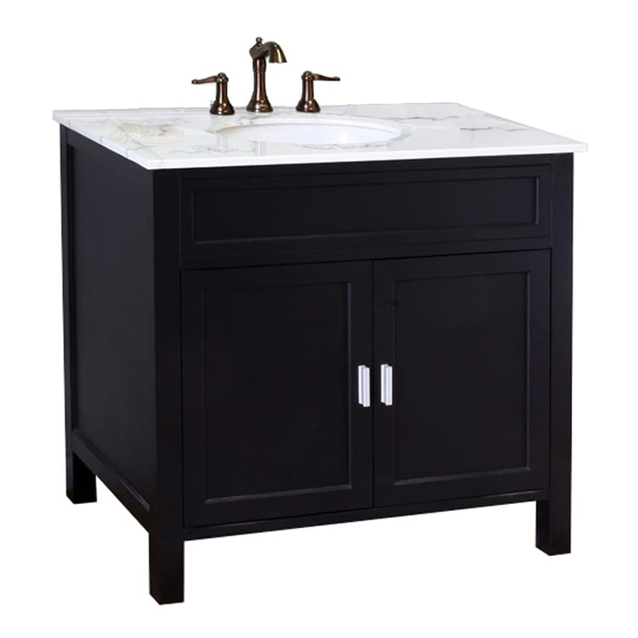 Shop Bellaterra Home Ebony Undermount Single Sink Bathroom