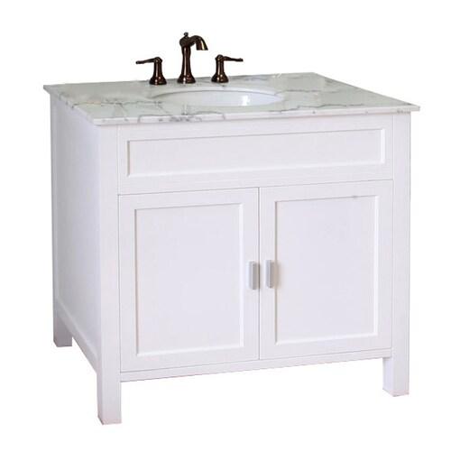 Bellaterra Home 36 In White Single Sink Bathroom Vanity