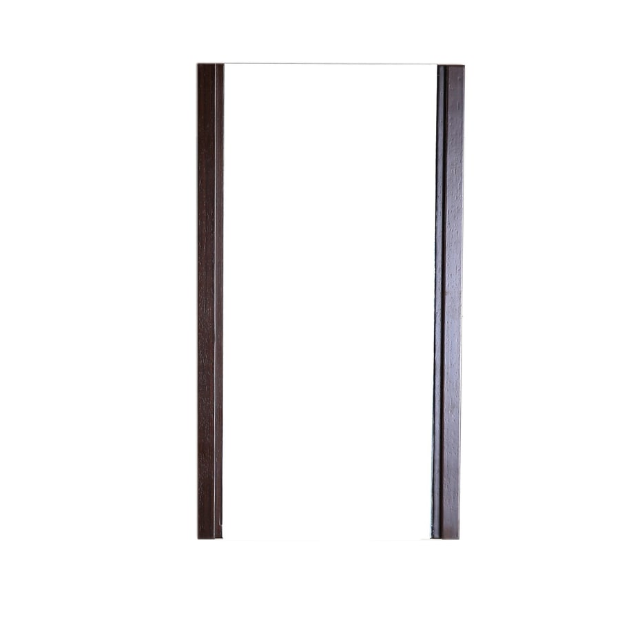 Bellaterra Home 17.7-in W x 31.5-in H Wenge Rectangular Bathroom Mirror