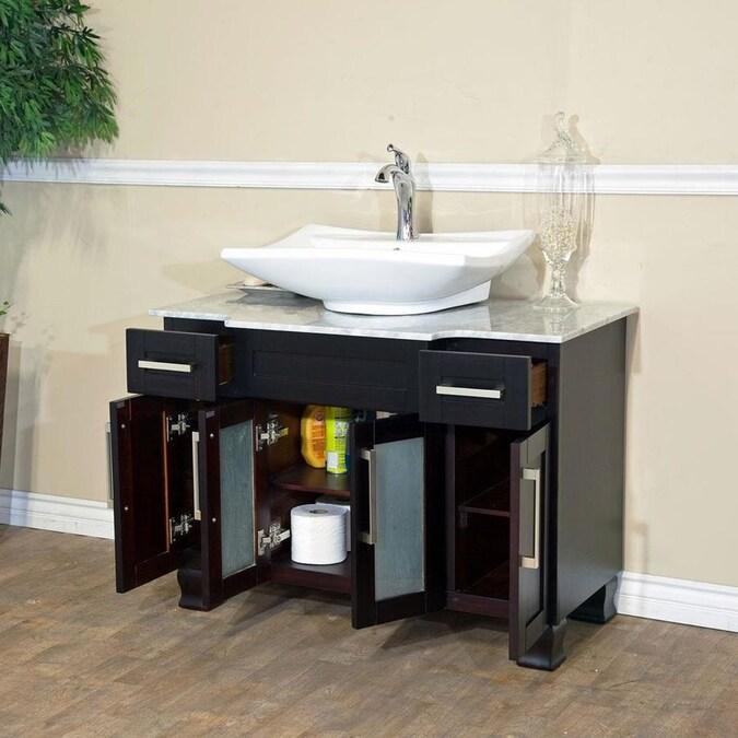 Bellaterra Home 40-in Dark Mahogany Single Sink Bathroom ...