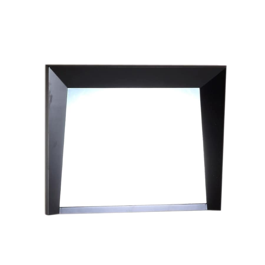 Shop Bellaterra Home 36 In Dark Espresso Rectangular Bathroom Mirror At