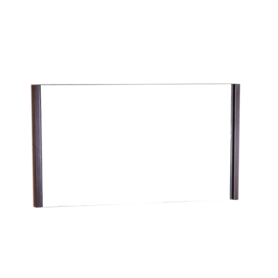Bellaterra Home 47.2-in W x 25.5-in H Wenge Rectangular Bathroom Mirror