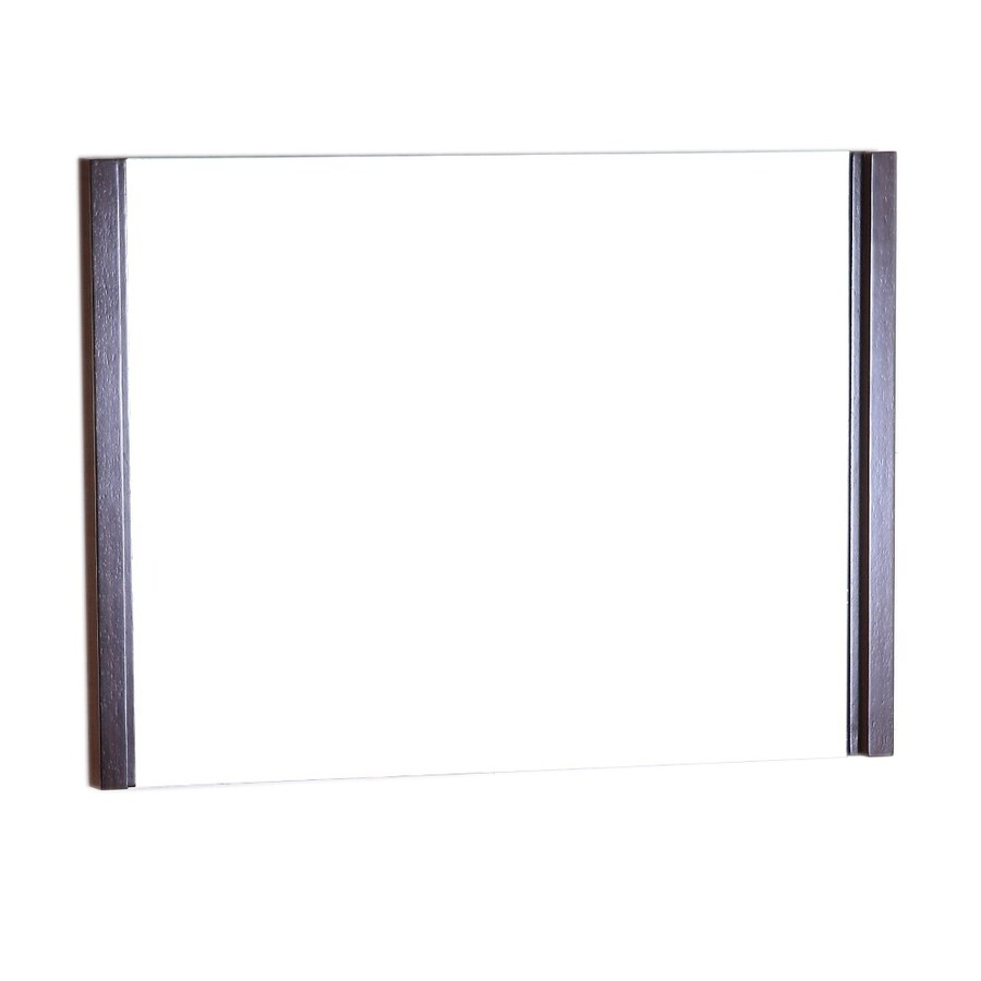 Bellaterra Home 35.5-in W x 25.5-in H Wenge Rectangular Bathroom Mirror
