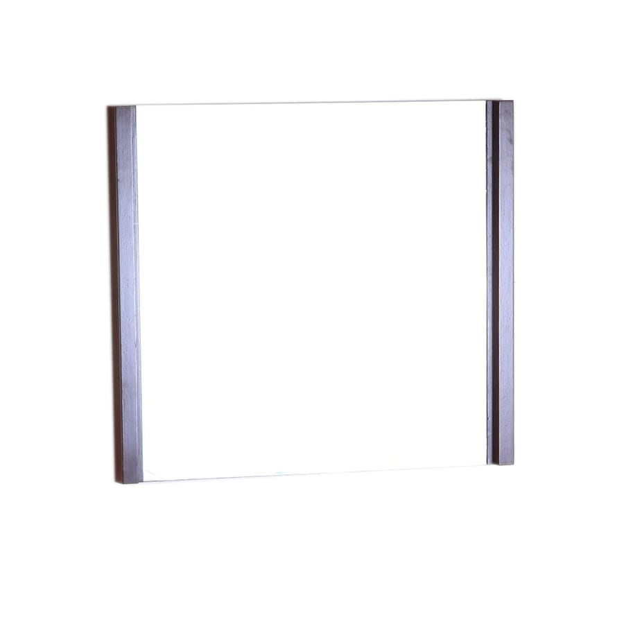 Bellaterra Home 29.5-in W x 25.5-in H Wenge Square Bathroom Mirror