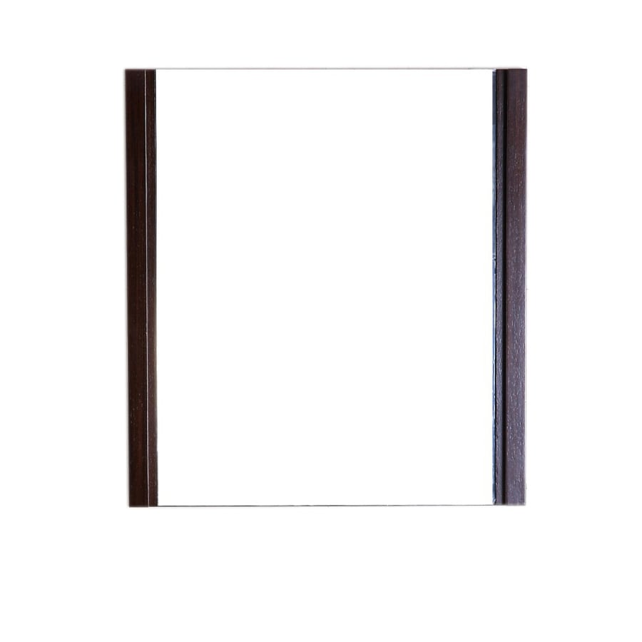 Bellaterra Home 23.5-in W x 25.5-in H Wenge Square Bathroom Mirror
