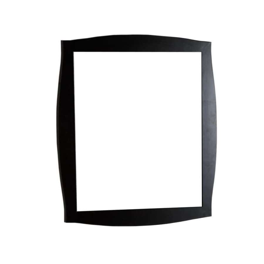 Bellaterra Home 35.5-in W x 31.5-in H Dark Espresso Rectangular Bathroom Mirror