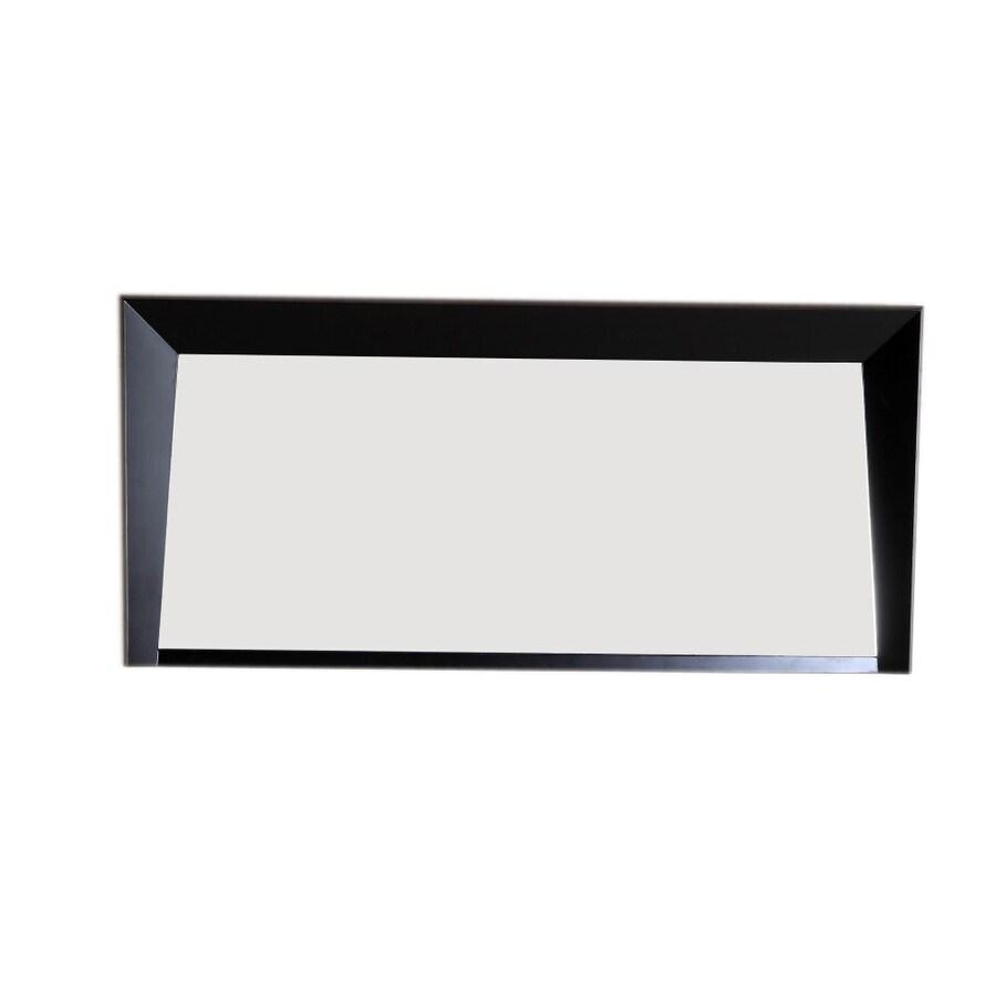 Bellaterra Home 55.5-in W x 25.5-in H Dark Espresso Rectangular Bathroom Mirror