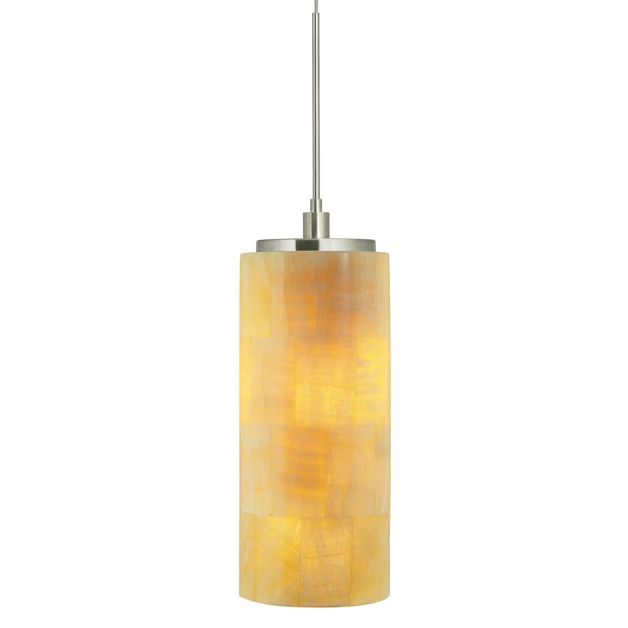 Stone 7.5-in Polished Nickel Mini Tinted Glass Pendant