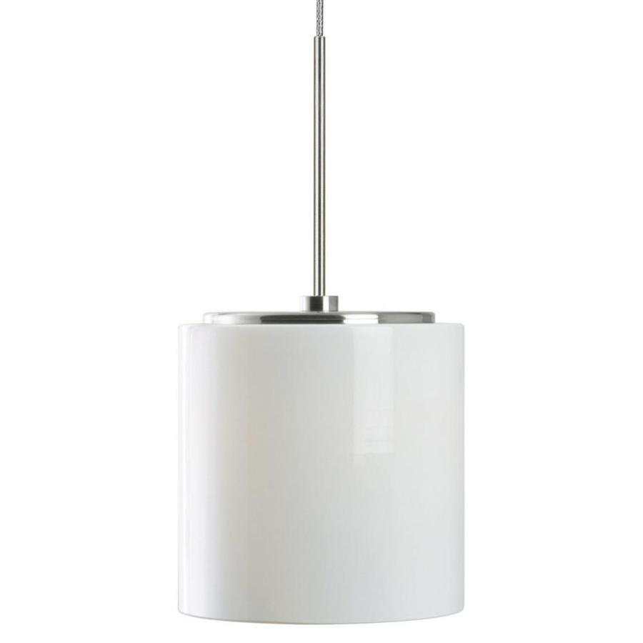 Stone 4.25-in Polished Nickel Mini Pendant