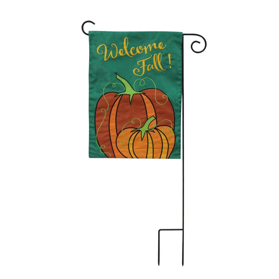 1-ft W x 1.5-ft H Fall Embroidered Garden Flag
