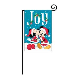 disney mickey and minnie joy garden flag with stand - Decorative Christmas Flags