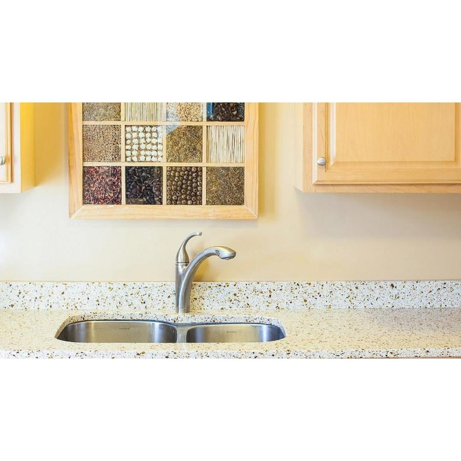 Shop Curava Wheat Recycled Glass Kitchen Countertop Sample