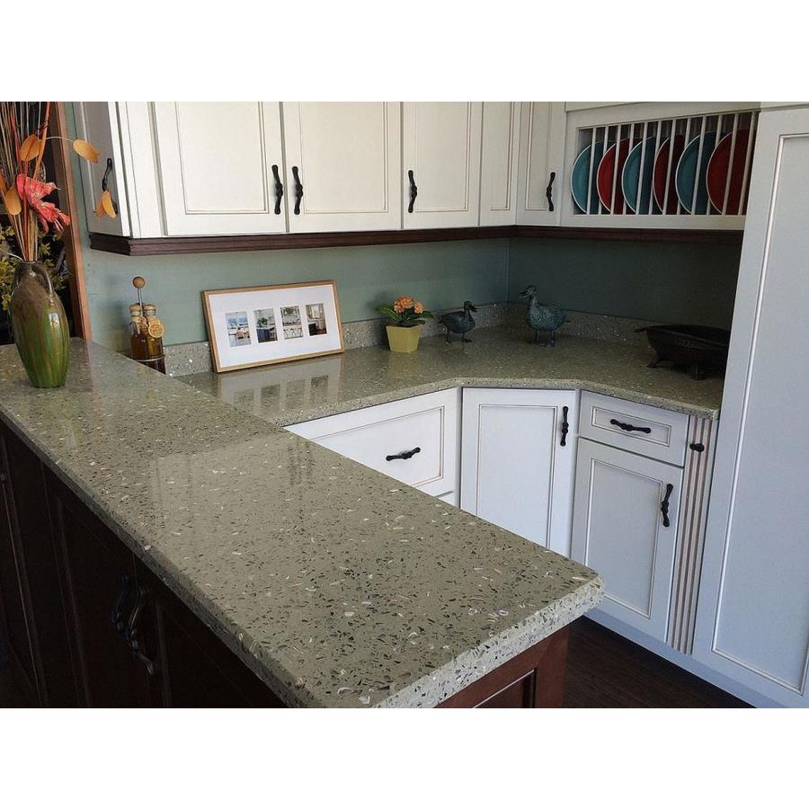Recycled Glass Kitchen Countertops Curava Lemongrass Recycled Glass Kitchen Countertop Sample