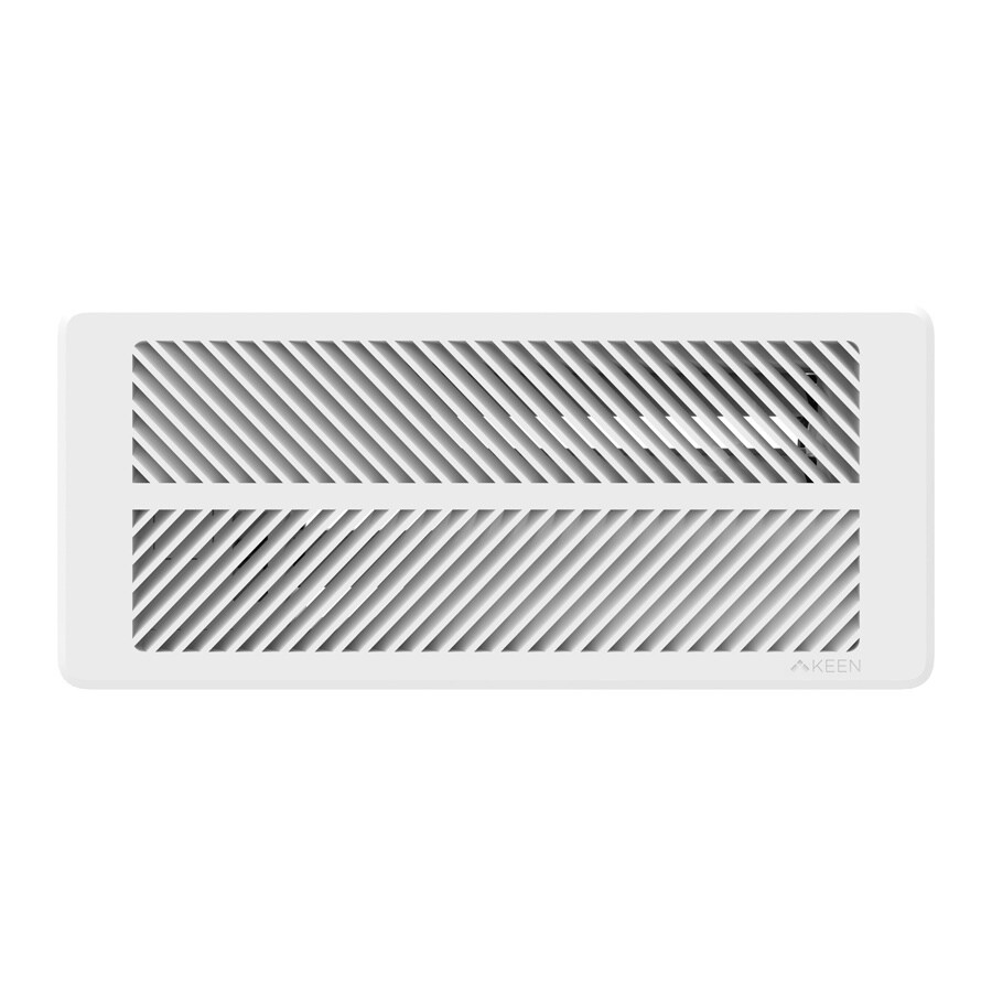 Keen Home Smart Vent Matte ABS Resin Sidewall/Ceiling Register (Rough Opening: 12-in x 4-in; Actual: 15.25-in x 3.35-in) Works with Iris