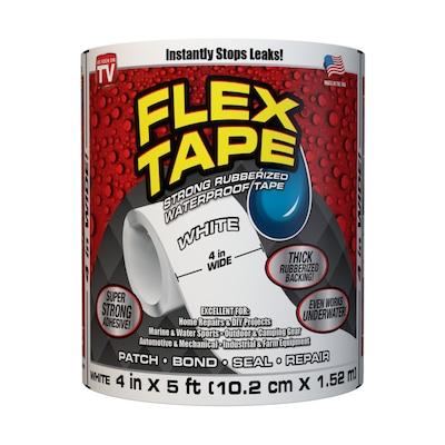 Outstanding Flex Seal Flex Shot Flex Liquid 4 In X 5 Ft White Heavy Duty Duct Tape Customarchery Wood Chair Design Ideas Customarcherynet