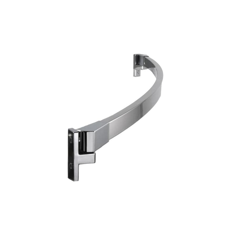 preferred bath accessories 60 in polished chrome single curve fixed shower rod lowes home improvement