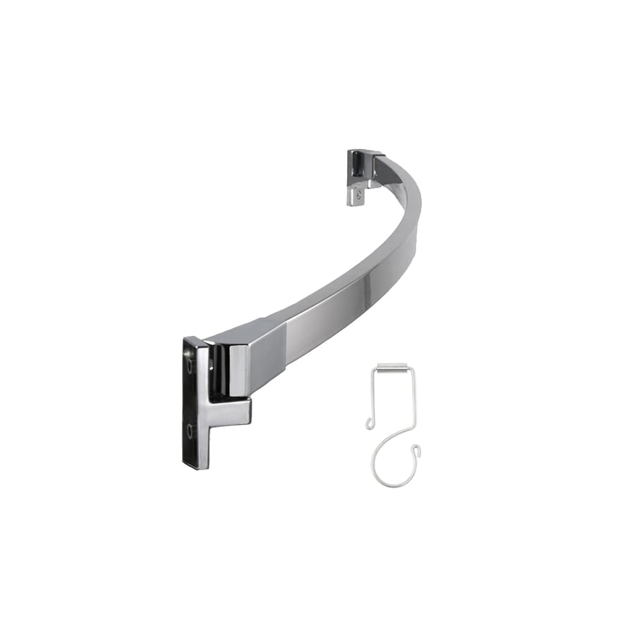 Preferred Bath Accessories 62-in Polished Chrome Curved Adjustable  Shower Curtain Rod