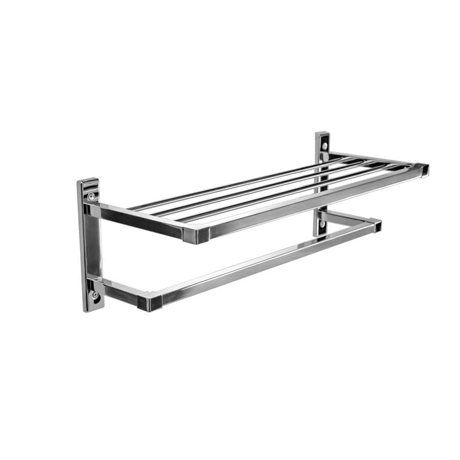 Shop preferred bath accessories polished chrome rack towel for Rack for bathroom accessories