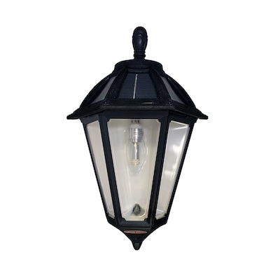 Polaris Solar Sconce 17 5 In H Black Led Outdoor Wall Light