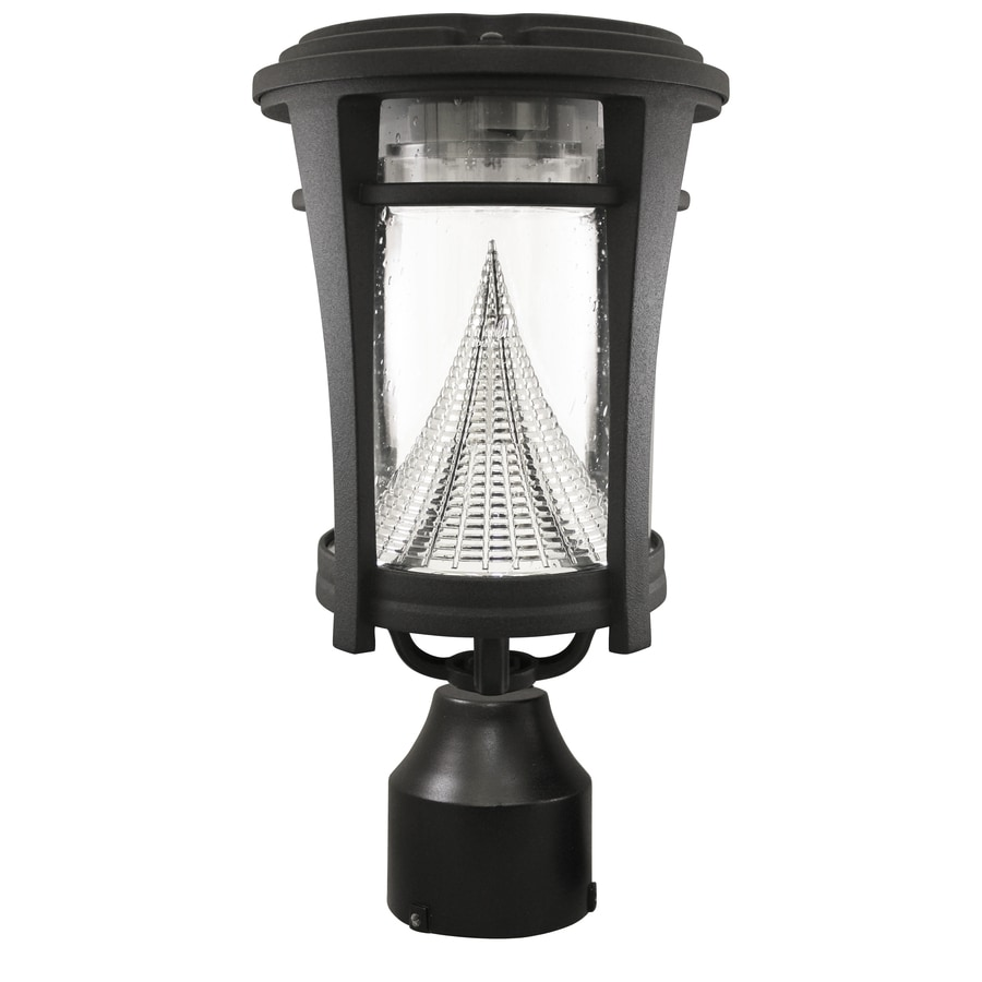 Outdoor Lamp Post B Q: Gama Sonic Aurora 50-Lumen 13-in Black Transitional Post