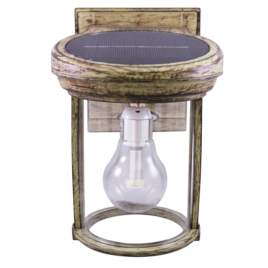 Gama Sonic Solar Coach Light 7.5-in H Weathered Bronze Solar LED Outdoor Wall Light