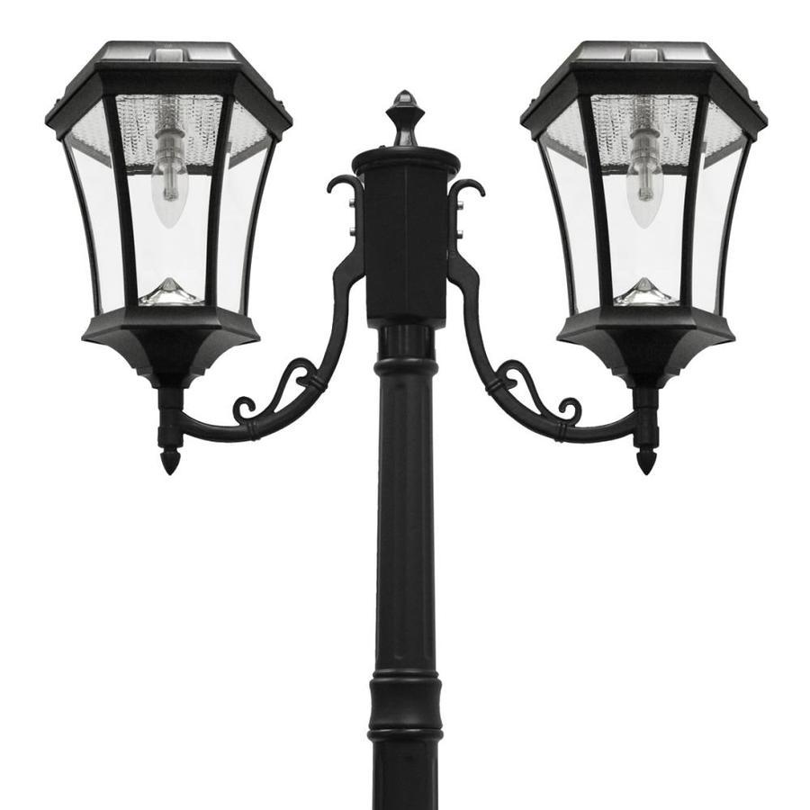 Gama Sonic Victorian Bulb 87-in H Black Solar LED Complete Post Light
