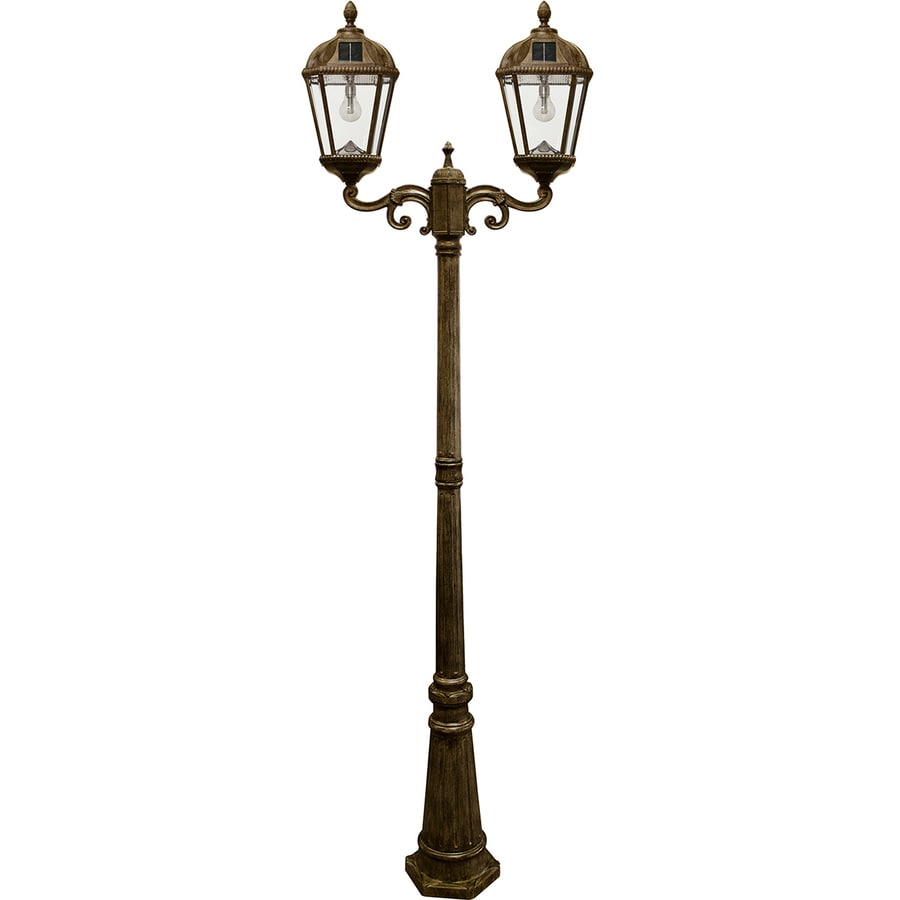 Solar Light Shops In Hyderabad: Shop Gama Sonic Royal Bulb 89-in H Weathered Bronze Solar